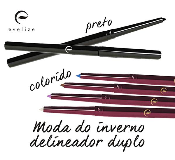 Lápis delineador retrátil proporciona variedade de looks à maquiagem